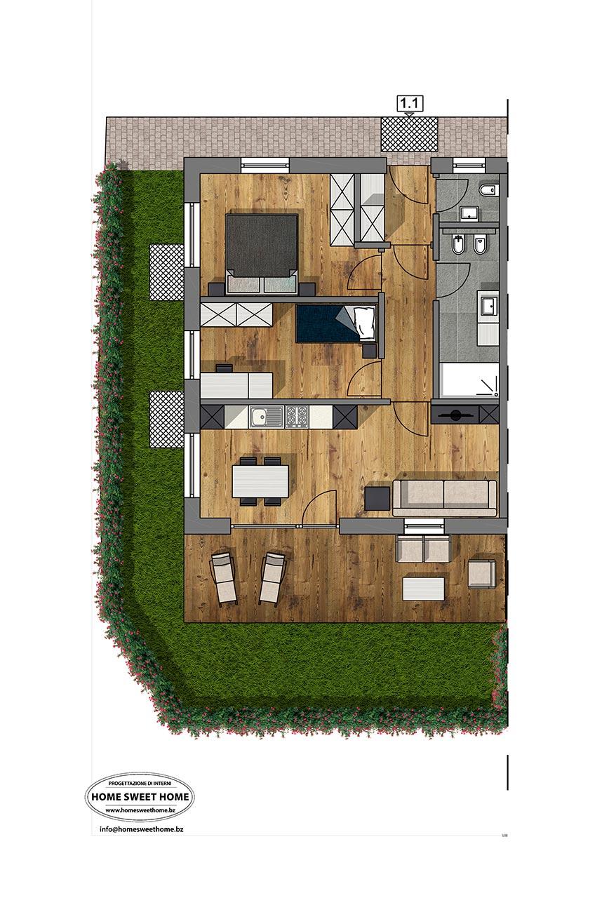 konventionierte erdgeschoss wohnung in niederdorf schiller investment. Black Bedroom Furniture Sets. Home Design Ideas