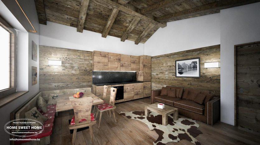 Wohnung im Dachgeschoss in Toblach